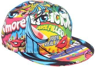 Moschino Eyes Printed Cotton Baseball Hat