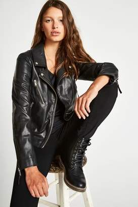 Jack Wills Padstow Leather Biker Jacket