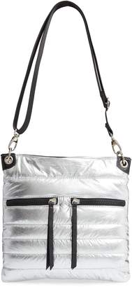 Sondra Roberts Faux Leather Crossbody Messenger Bag