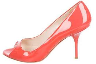 Prada Peep-Toe Patent Leather