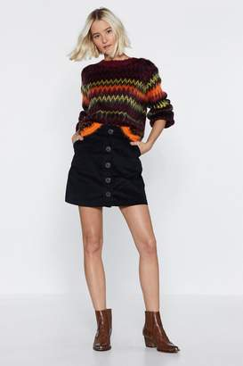 Nasty Gal Hot and Chevy Fluffy Knit Sweater