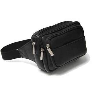 Royce Leather Vaquetta Colombian Leather Multi-Compartment Travel Fanny Pack
