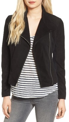 Women's Andrew Marc Laney Lightweight Suede Crop Jacket $496 thestylecure.com