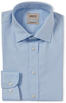Armani Collezioni Blue Modern Fit Dress Shirt