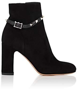 Valentino Garavani Women's Rockstud Double-Strap Boots - Black