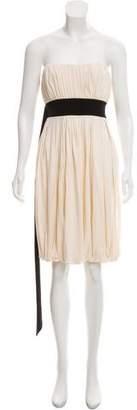 Diane von Furstenberg Pleated Strapless Dress w/ Tags