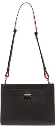 Christian Louboutin Skypouch Loubicity Leather Pouch - Mens - Black