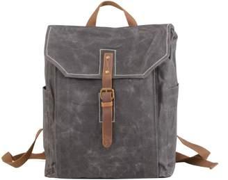 EAZO - Vintage Look Waxed Canvas Backpack Grey