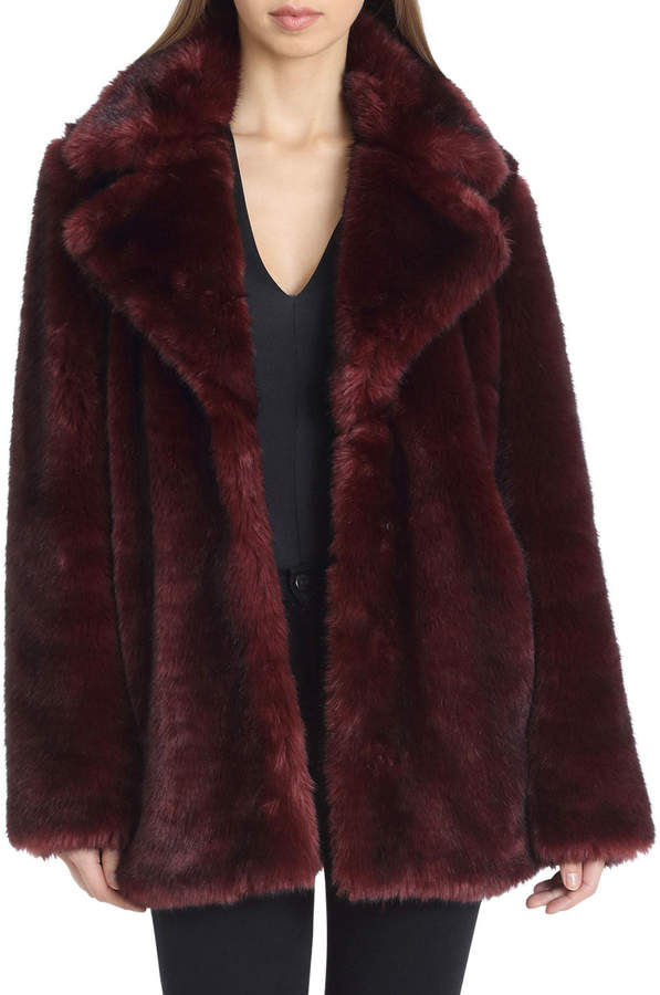 Faux-Fur Oversized Coat