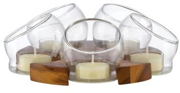 Dansk Design With Light Bubble Circular Candle Display