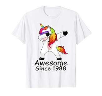 Awesome 1988 Shirt 30th Birthday Gift Unicorn Dabbing Outfit