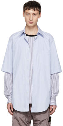 3.1 Phillip Lim Blue Double Layered Shirt