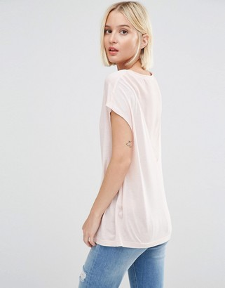 Selected Niva T-Shirt with Sheer V Back $57 thestylecure.com