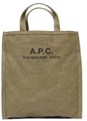 A.P.C. Canvas Tote Bag - Mens - Khaki