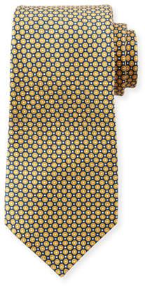 Kiton Men's Micro Circles Tie, Yellow