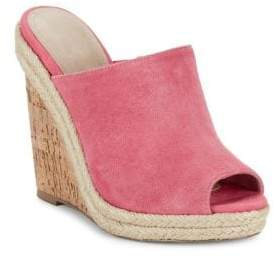 Charles by Charles David Balen Suede Wedge Mules