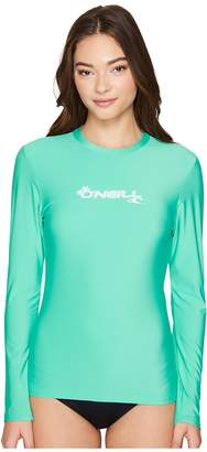 O'Neill Basic Skins Long Sleeve Rash Tee Women's Swimwear