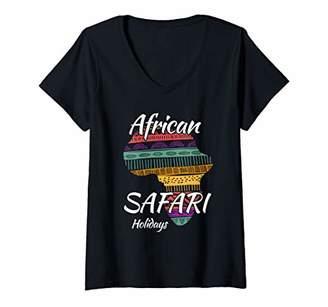 Womens Safari Tour Guide Costume T-Shirt Safari Adventure V-Neck T-Shirt