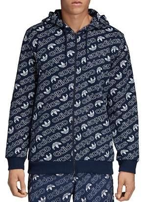 adidas Monogram Zip Hooded Sweatshirt