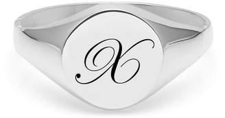 Myia Bonner Initial X Silver Edwardian Signet Ring