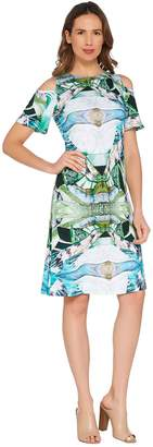 Women With Control Attitudes by Renee Petite Como Jersey Printed Dress