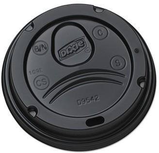 Georgia Pacific Professional Dixie Drink-Thru Lids for 10-20 oz Cups, Plastic, Black -DXED9542B, 1000 ct