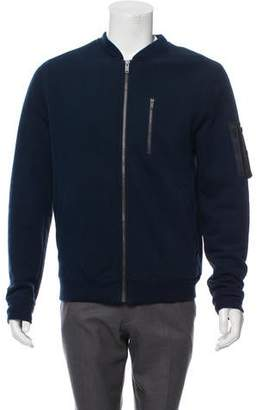 Marc by Marc Jacobs Leather-Trimmed Zip-Up Sweatshirt