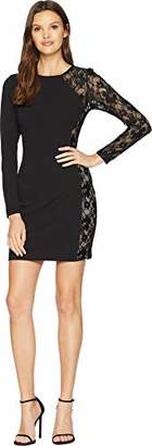 Bebe Women's Little Dress Long One Lace Sleeve