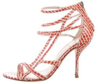 Christian Dior Snakeskin Cutout Sandals