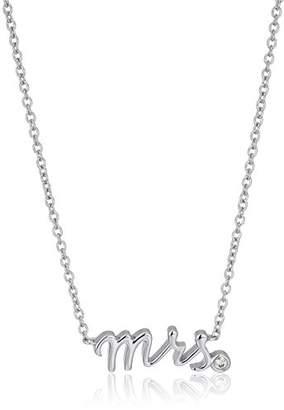 "Swarovski Platinum-Plated Sterling Zirconia ""mrs"" Pendant Necklace"