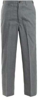 Chimala Checked Straight Leg Wool Blend Trousers - Womens - Green Multi