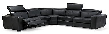 JCPenney Danube 5-Pc. Leather Sectional