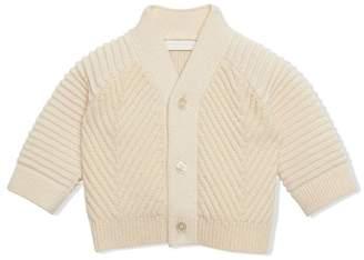 Burberry Rib Knit Wool Cashmere Cardigan