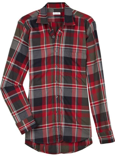 Steven Alan Checked cotton boyfriend shirt