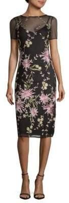 Donna Ricco Floral Mesh Slip Dresss