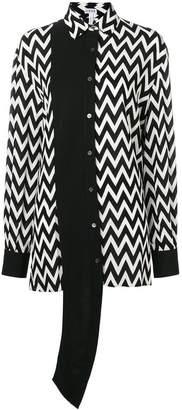 Loewe asymmetric herringbone shirt