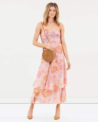 Cooper St Peony Lace Trim Maxi Dress