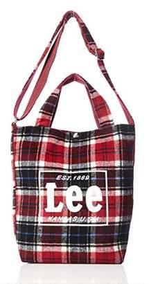 Lee (リー) - [リー] ショルダーバッグ Lee タータンチェック柄 2WAYトートバッグ レッド