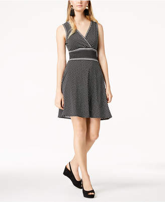 Maison Jules Polka-Dot Fit & Flare Dress, Created for Macy's