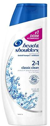 Head & Shoulders Classic Clean 2-in-1 Dandruff Shampoo + Conditioner 13.5 Fl Oz Per Bottle (3 Bottles)