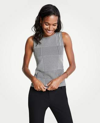 Ann Taylor Houndstooth Shell