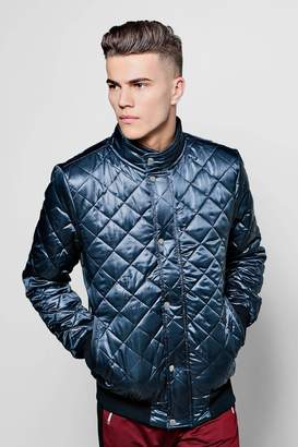 boohoo Diamond Quilted Funnel Neck Jacket