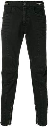 Paura slim-fit biker jeans