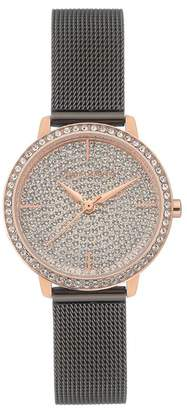Vince Camuto Women's Champagne Pave Dial Watch With Swarovski Crystals, 26mm