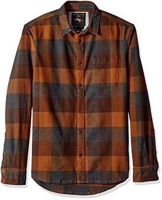 Quiksilver Men's Stretch Button Down Flannel Shirt