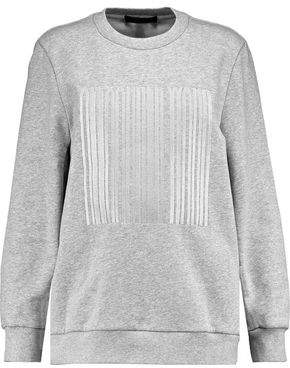 Alexander Wang Embroidered Mélange Cotton-Fleece Sweatshirt
