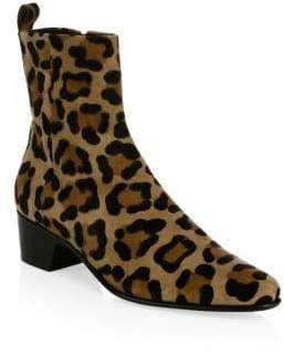 Pierre Hardy Reno Suede Leopard-Print Booties