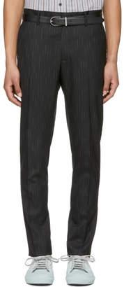 Lanvin Black and White Bicolor Chino Trousers