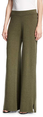 Minnie Rose Palazzo Knit Pants $175 thestylecure.com