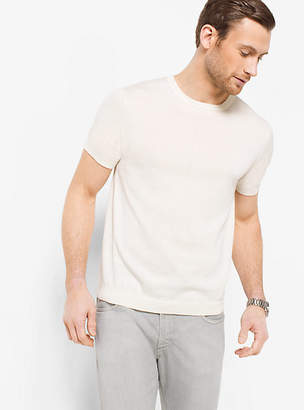 Michael Kors Silk And Cotton T-Shirt